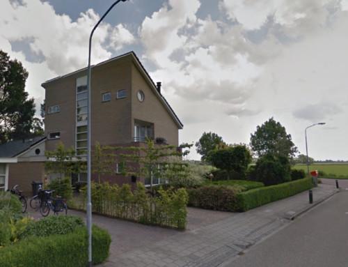 Vergunningstekening voor overkapping en zwembad in Bedum (bij Groningen)
